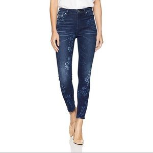 Lucky Brand High Rise Bridgette Floral Jeans